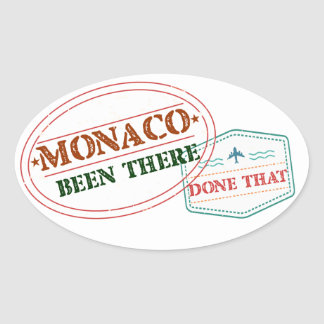 Adesivo Oval Monaco feito lá isso