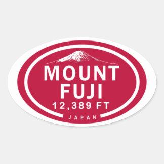 Adesivo Oval Montanha de Monte Fuji 12.389 FT Japão