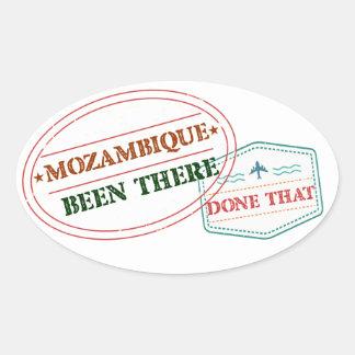 Adesivo Oval Mozambique feito lá isso