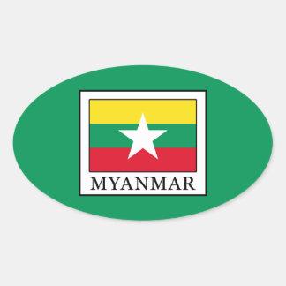 Adesivo Oval Myanmar