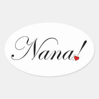 Adesivo Oval Nana!