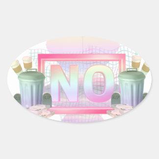 Adesivo Oval Não