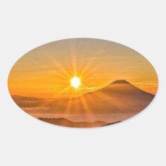 Adesivo Oval Nascer do sol