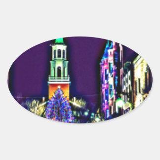 Adesivo Oval Natal na cidade