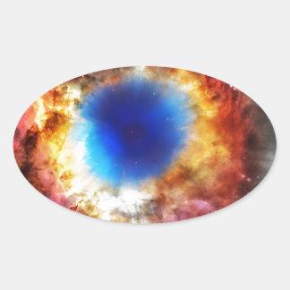 Adesivo Oval Nebulosa da hélice