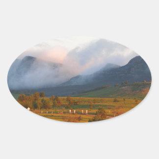 Adesivo Oval Névoa da manhã, libra de Wilpena