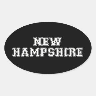 Adesivo Oval New Hampshire
