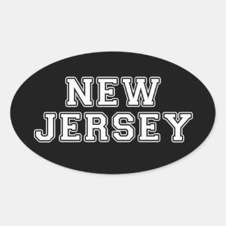 Adesivo Oval New-jersey
