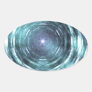 Adesivo Oval No buraco negro