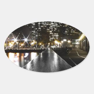 Adesivo Oval Noite de San Francisco