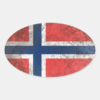 Adesivo Oval Noruega