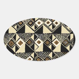 Adesivo Oval O africano Kuba inspirou o design