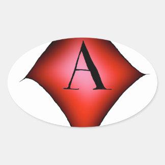 Adesivo Oval O ás de diamantes por Tony Fernandes