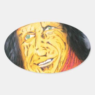 Adesivo Oval O balancim Wrinkly