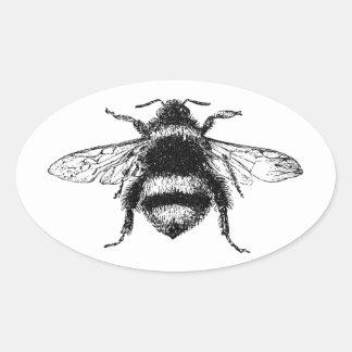 Adesivo Oval O clássico Bumble a abelha