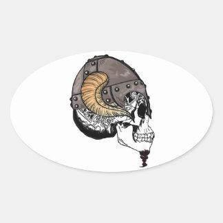 Adesivo Oval O guerreiro Horned
