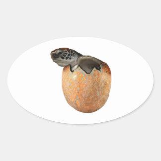 Adesivo Oval O Hatchling
