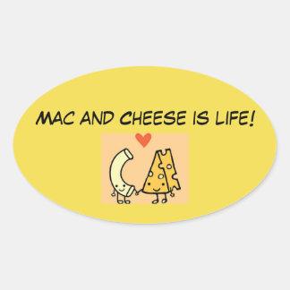 Adesivo Oval O Mac e o queijo são vida!