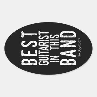 Adesivo Oval O melhor guitarrista (talvez) (branco)