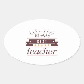 Adesivo Oval O melhor professor do mundo