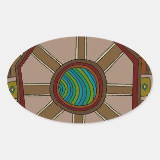 Adesivo Oval O motor do mundo