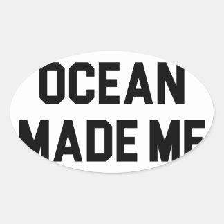 Adesivo Oval O oceano fez-me salgado