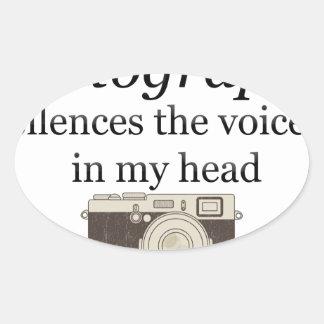 Adesivo Oval o pstvimhPhotography silencia as vozes em minha