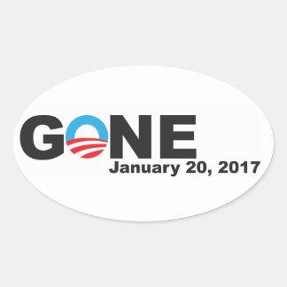 Adesivo Oval Obama ido, 2017