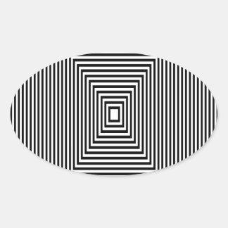 Adesivo Oval Olhar de túnel