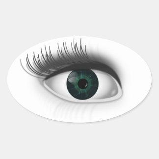 Adesivo Oval Olho verde