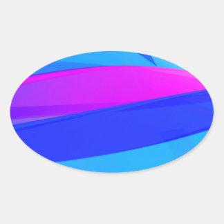 Adesivo Oval Onda colorida
