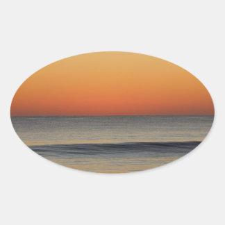 Adesivo Oval Ondas em você horizonte