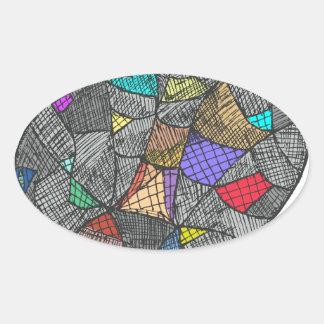 Adesivo Oval Opal preto