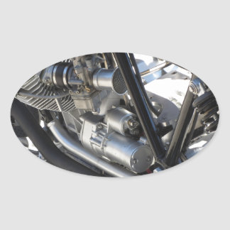 Adesivo Oval Opinião lateral cromada motocicleta do detalhe do