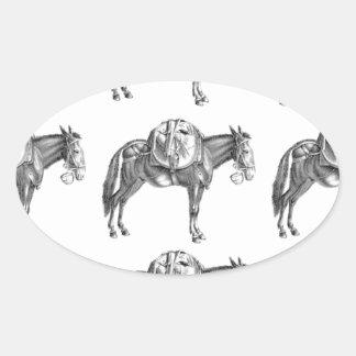 Adesivo Oval oração da mula do bloco