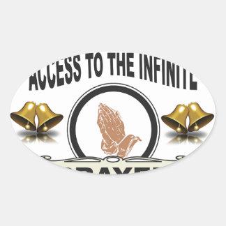 Adesivo Oval oração infinita do acesso