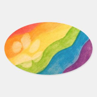 Adesivo Oval Orgulho com cada Oval da pata