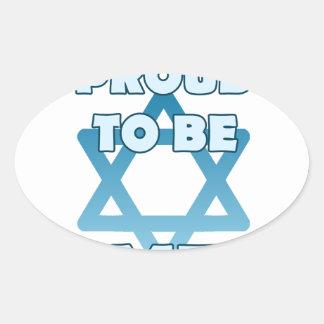 Adesivo Oval Orgulhoso ser judaico