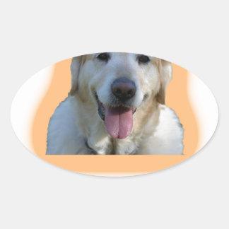 Adesivo Oval Os cães são melhores do que seres humanos