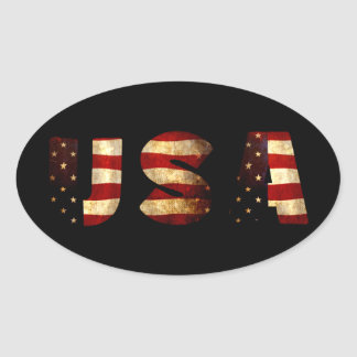 Adesivo Oval Os Estados Unidos da América