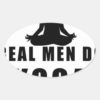 Adesivo Oval os homens reais fazem a ioga