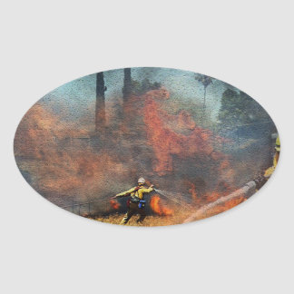 Adesivo Oval Os sapadores-bombeiros são nossos heróis