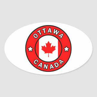 Adesivo Oval Ottawa Canadá