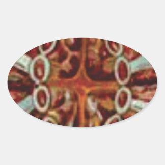 Adesivo Oval oval das figuras e das formas