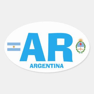 Adesivo Oval Oval Wisker do estilo de Argentina euro-