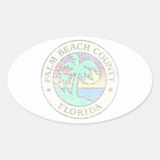 Adesivo Oval Palm Beach County