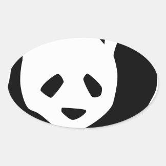 Adesivo Oval Panda