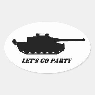 Adesivo Oval , panzer seul go party
