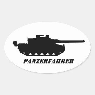 Adesivo Oval panzerfahrer