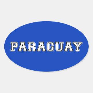 Adesivo Oval Paraguai